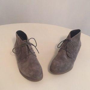 Franco Sarto gray suede booties. Like new!